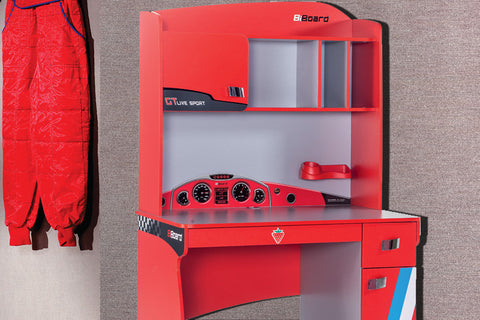 Turbo Series - Red Racer Standard Study Desk