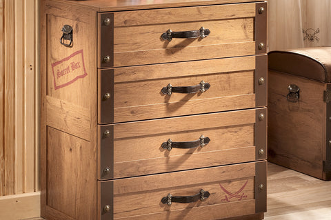 Black Pirate - Pirate Dresser with 4 drawers