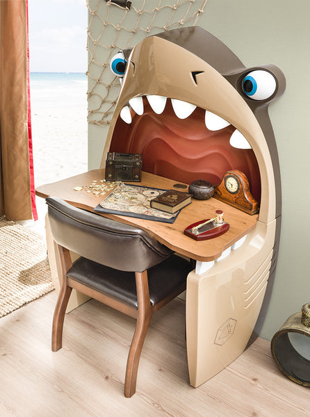 Black Pirate Jaws Shark Desk And Chair Neverland