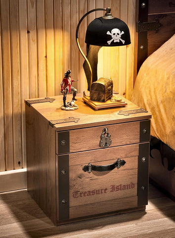 Captain's Nightstand, pirate furniture, children luxury furniture, kid's designer furniture, pirate night stand furniture, pirate night stand
