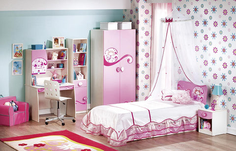 Princess Series - Study Desk with Upper Study Unit