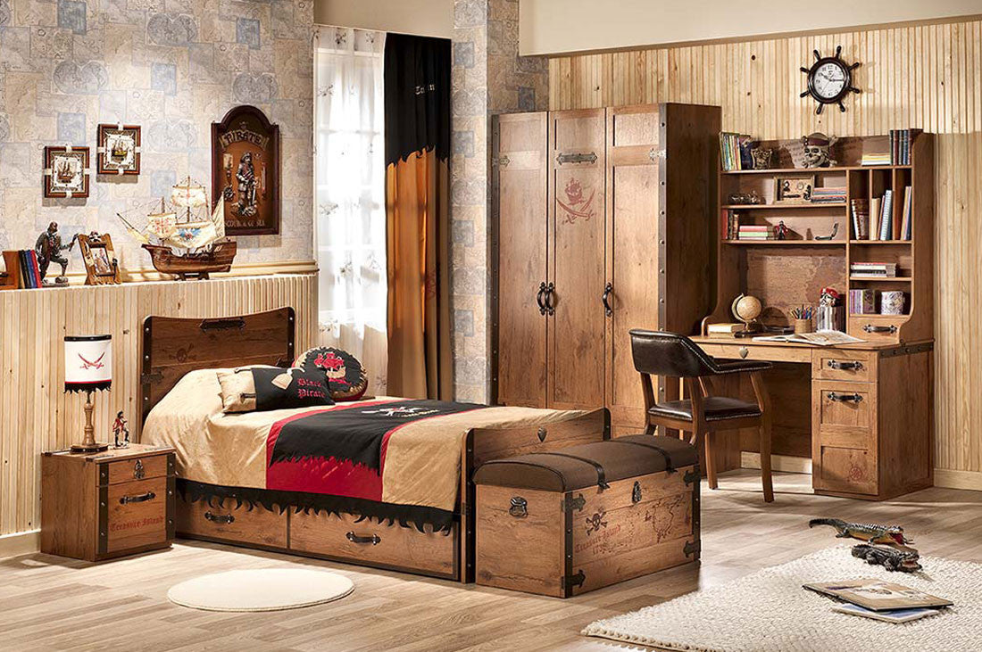 Pirate Bedroom Furniture Black Pirate Floatila Bed Mattress Included Neverland