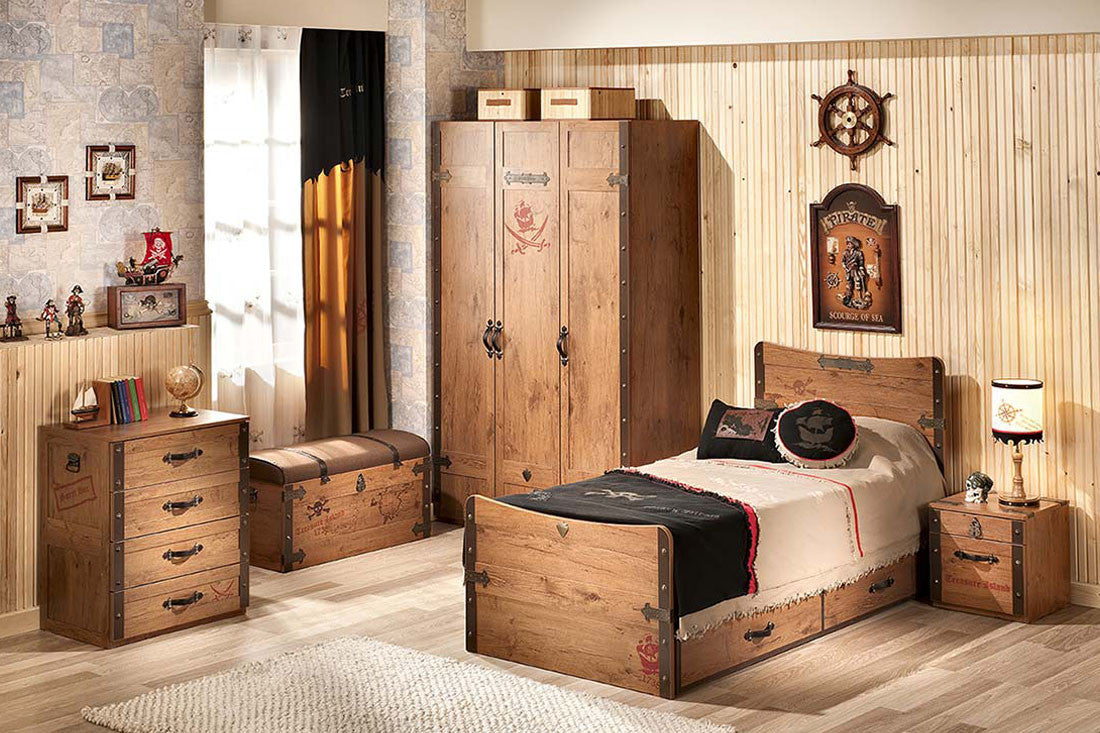 Pirate Bedroom Furniture Black Pirate Pirate Dresser With 4 Drawers Neverland Furniturecom