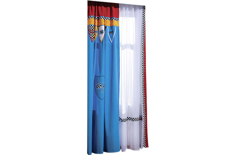 Turbo Series - Blue Racer Window Curtain