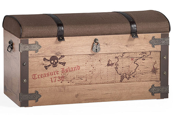 Black pirate pirate treasure chest storage and seating for Storage treasures