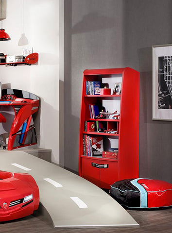 Turbo Bookcase, race car furniture, children luxury furniture, kids furniture, children furniture, kid's designer furniture, Turbo Bookcase furniture
