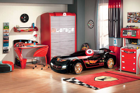 Turbo Car Bed - Night Rider, race car furniture, children luxury furniture, kids furniture, children furniture, kid's designer furniture, Turbo Car Bed - Night Rider furniture
