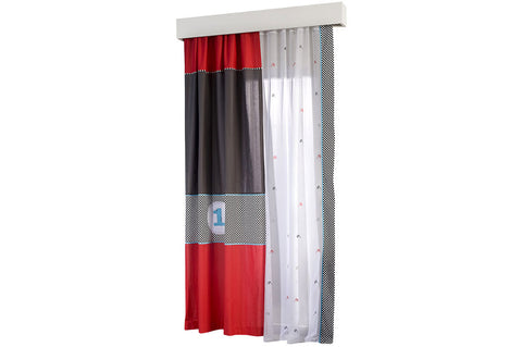 Racer Window Curtain, race car furniture, children luxury furniture, kids furniture, children furniture, kid's designer furniture, Racer Window Curtain furniture