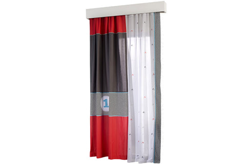 Racer Window Sheer Curtain, race car furniture, children luxury furniture, kids furniture, children furniture, kid's designer furniture, Racer Window Sheer Curtain furniture