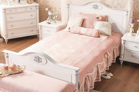 Romantic - XL Bed (Mattress  Included)