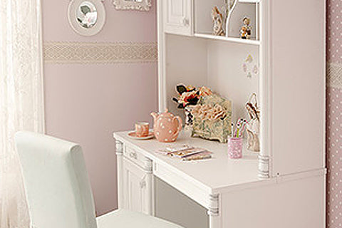 Romantic - Study Desk with Upper Study Unit