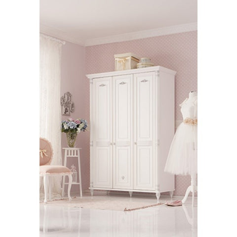 Romantic 3 Door Wardrobe