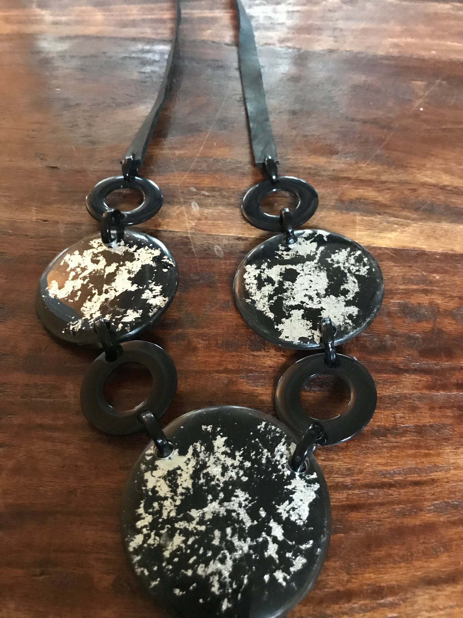 Epoxy Plate Necklace