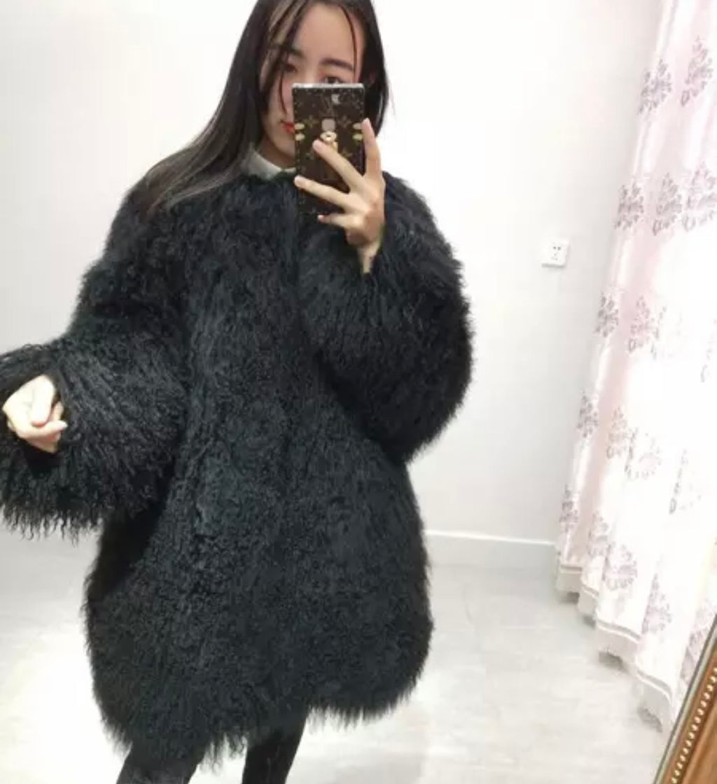 Mongolian Sheep Fur Coat