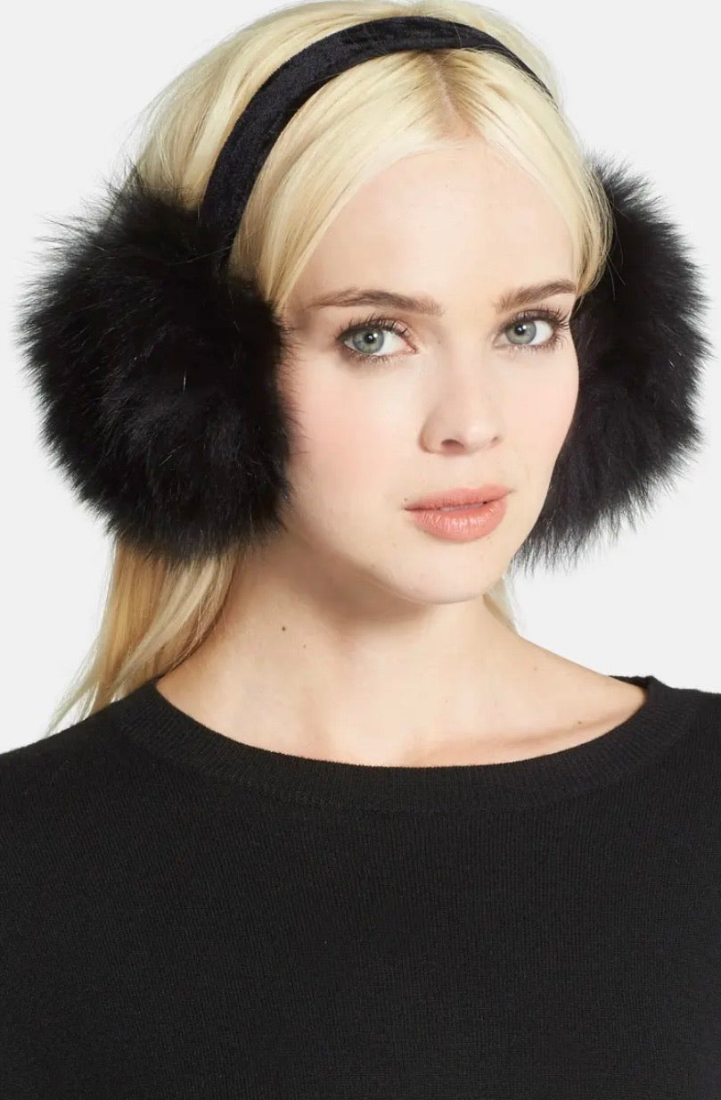Genuine Fox Fur Earmuffs