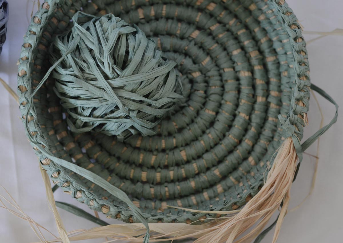 Coil basket weaving methods // Paperphine Paper Raffia Bowl – String ...