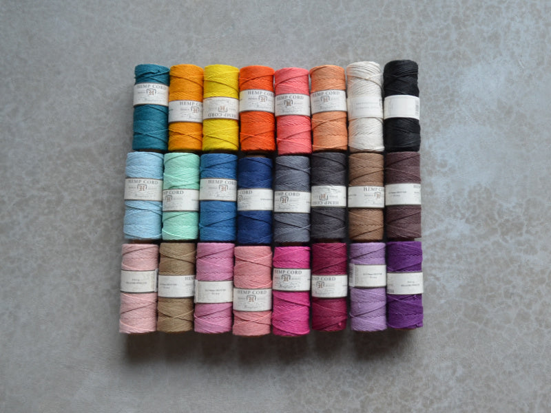 Hemptique 1mm hemp cord colours 50g