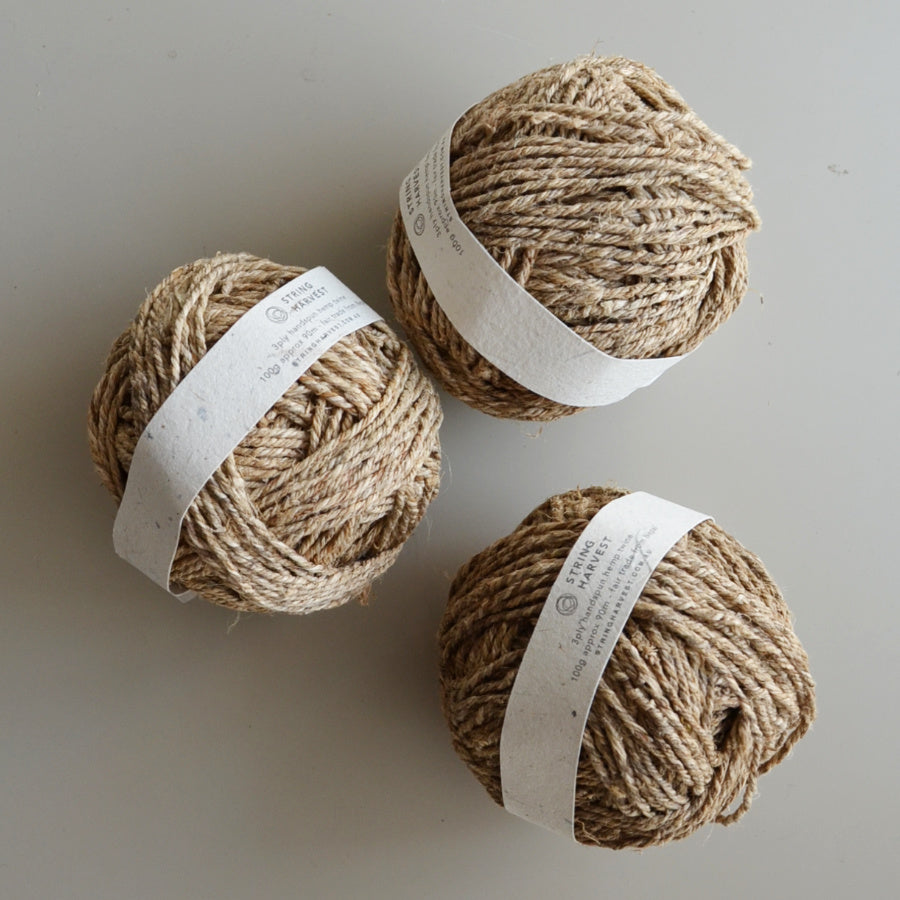3ply handspun hemp string 100g