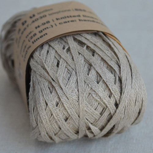 Habu N-98 knitted linen tape: Natural - string-harvest