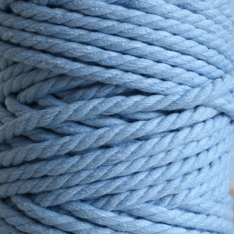 Recycled cotton rope 7mm - baby blue