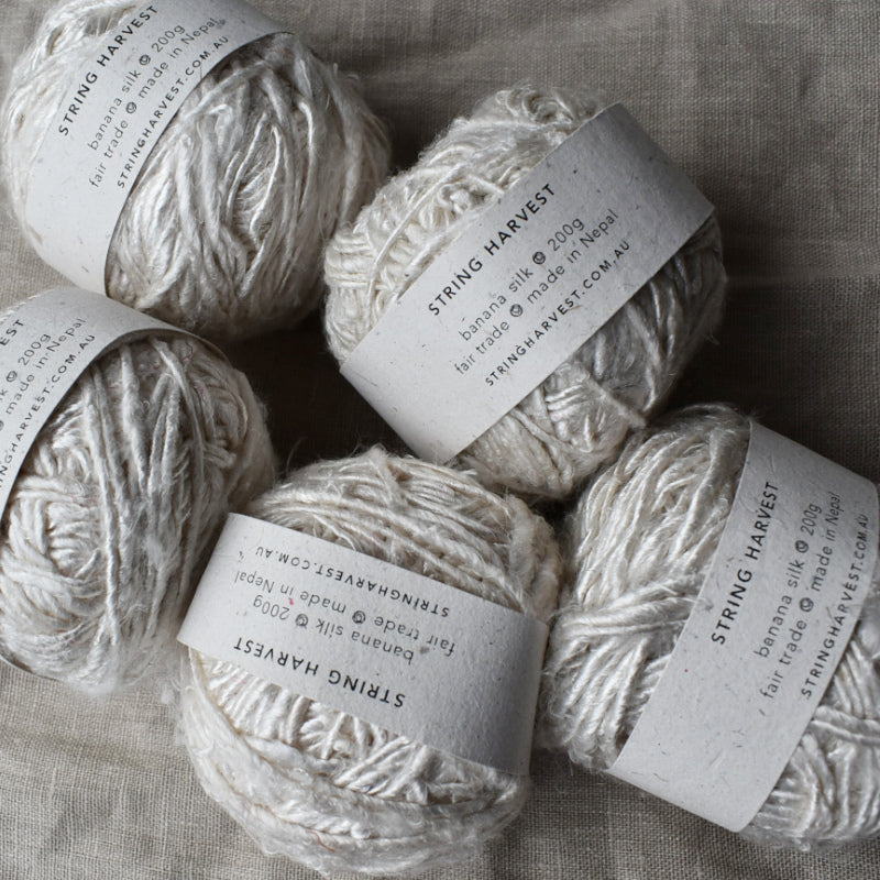 Banana silk yarn 200g white