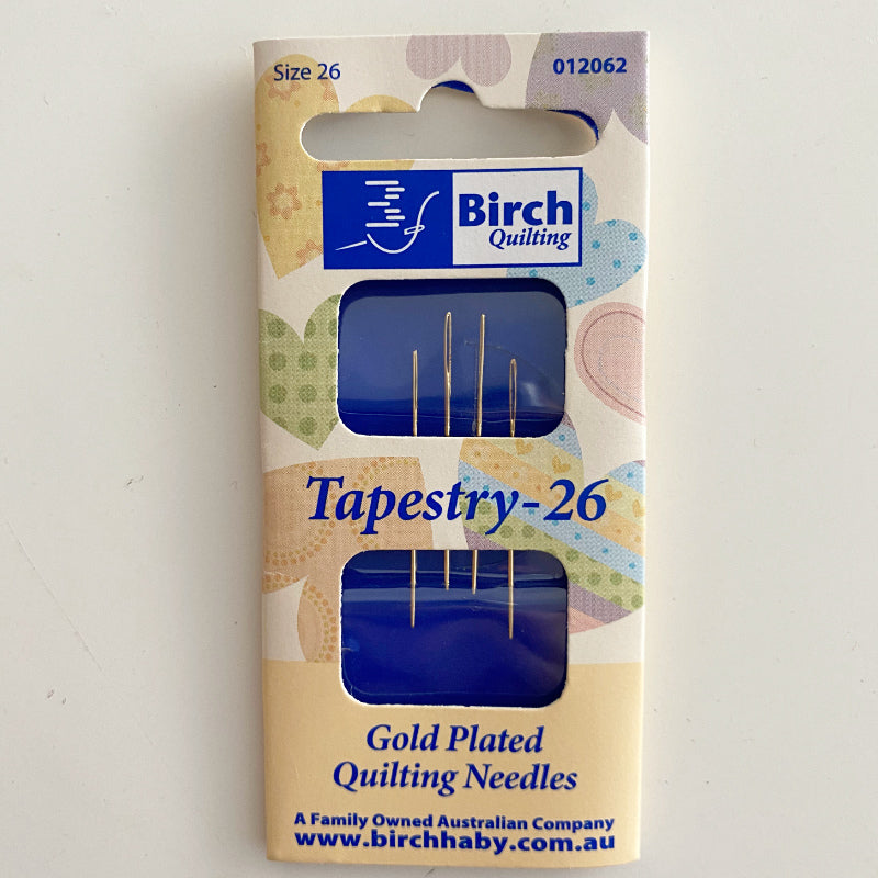 Birch Quilting Gold Plated Needles Tapestry
