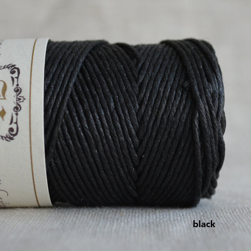 Hemptique hemp cord 1mm 50g Black