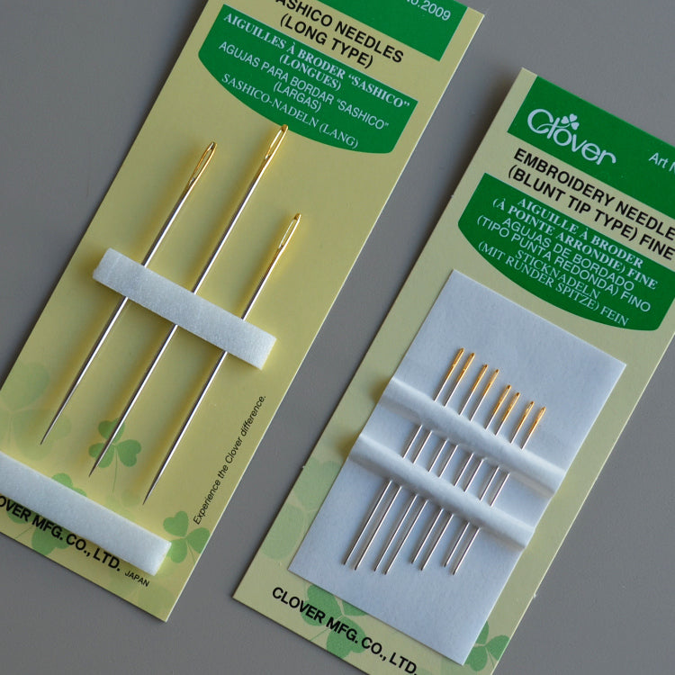 Clover Embroidery needles blunt fine - string-harvest