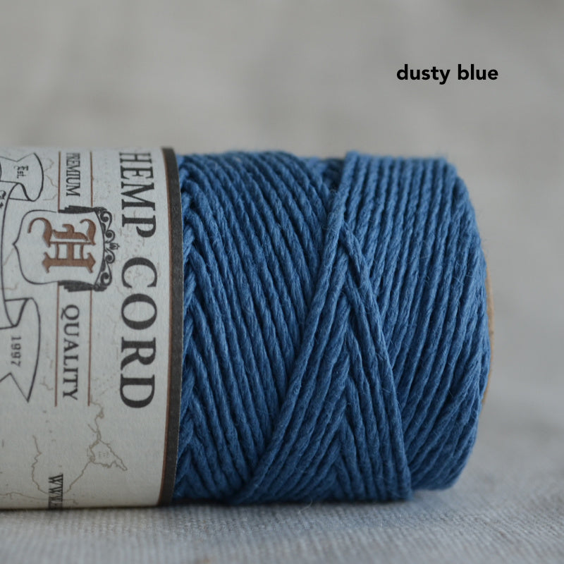 Hemptique hemp cord 1mm 50g Dusty Blue