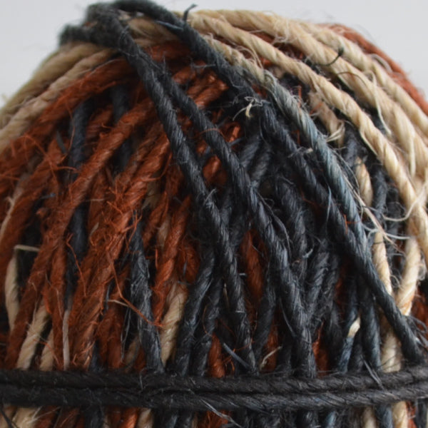 Hemp hand-spun twine: 50m earth