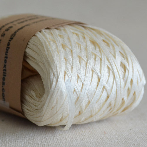 Habu N-6: root sizing silk gima kinari (natural white) - String Harvest - 2
