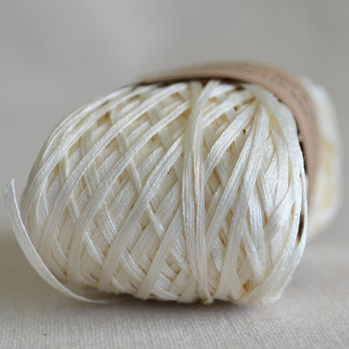 Habu N-6: root sizing silk gima kinari (natural white) - String Harvest - 1