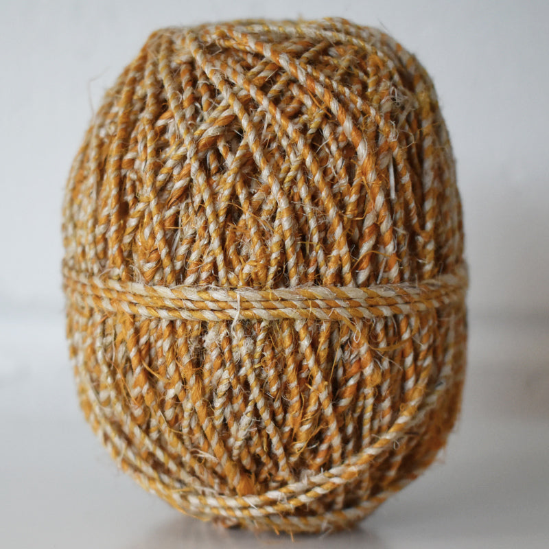 Hemp handspun 2ply 50m turmeric-natural