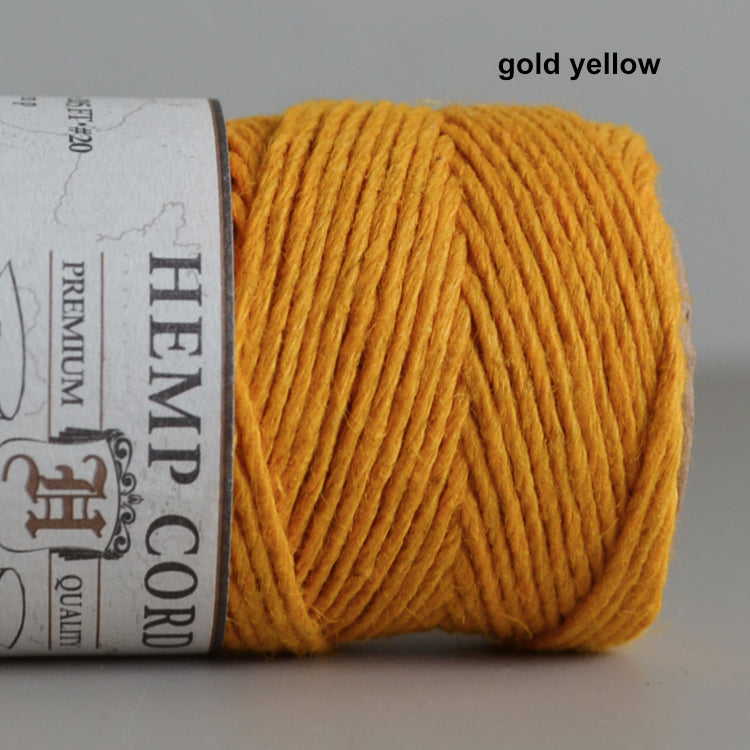 Hemptique hemp cord 1mm 50g Gold