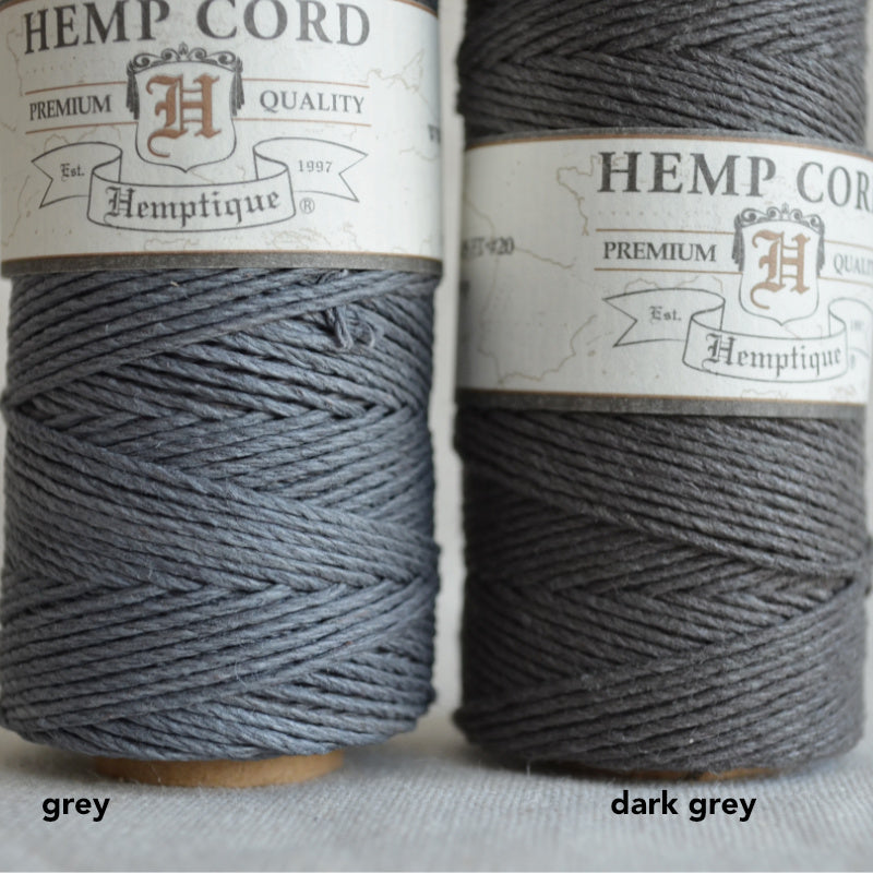 Hemptique hemp cord 1mm 50g Grey