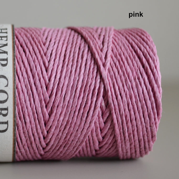 Hemptique hemp cord 1mm 50g Pink