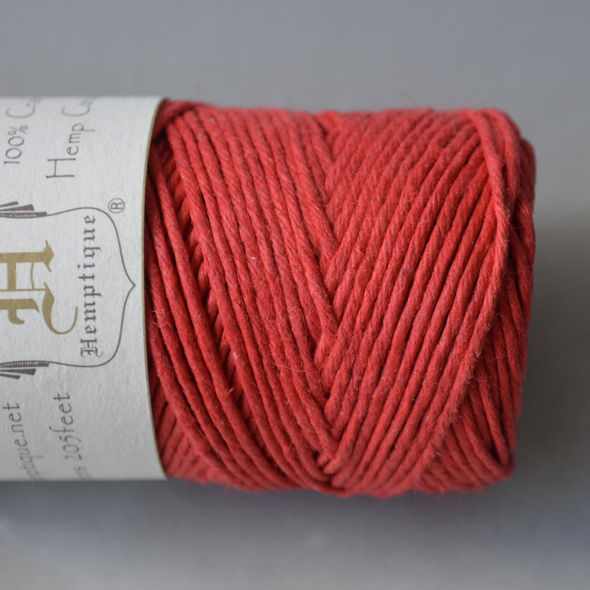 Hemptique hemp cord 1mm 50g Red