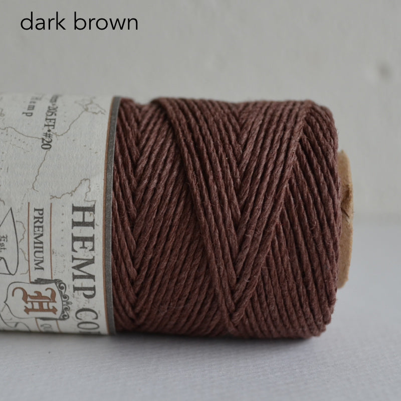 Hemptique hemp cord 1mm 50g Dark Brown