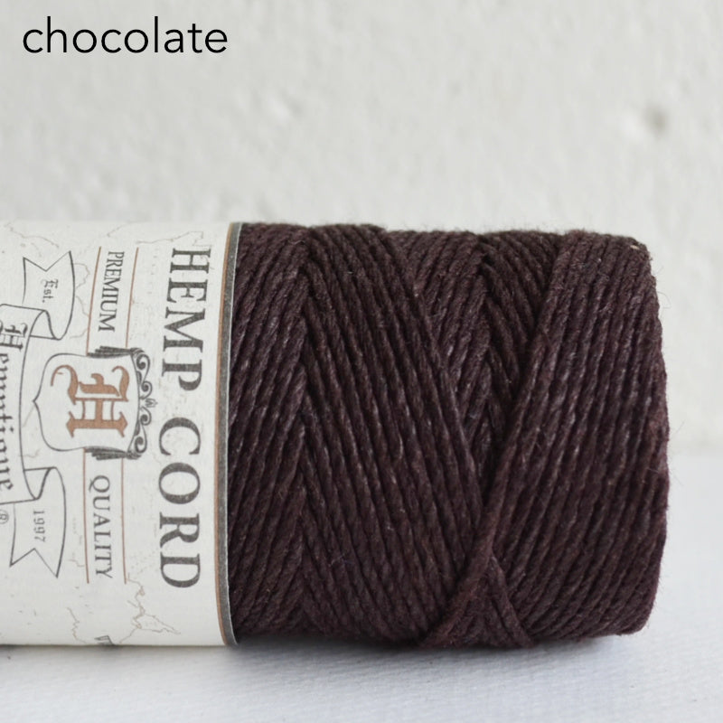 Hemptique hemp cord 1mm 50g Chocolate