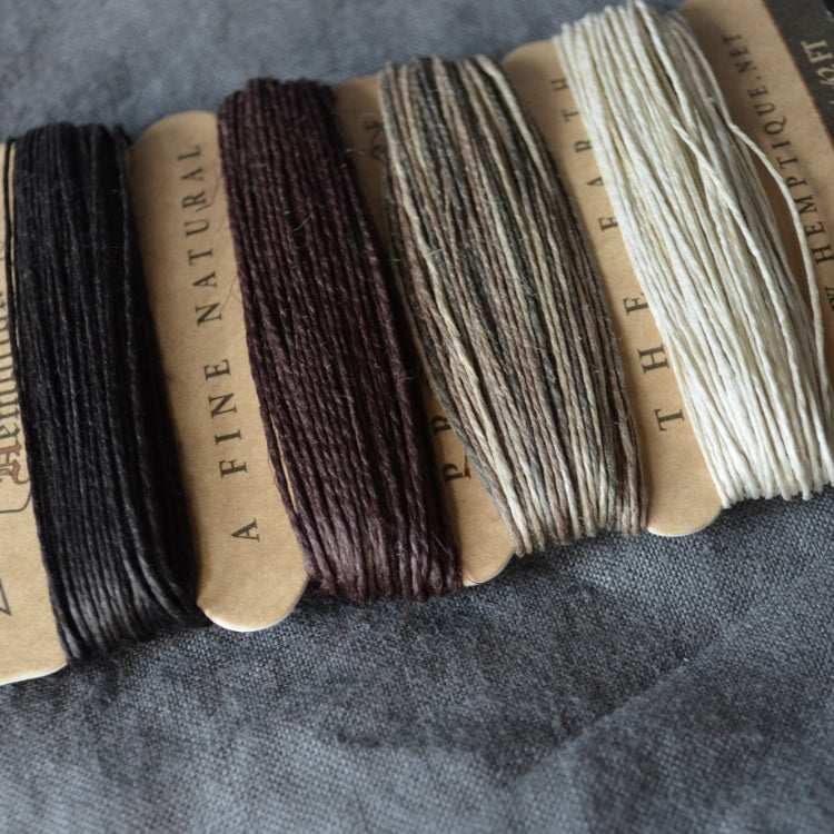 Hemp cord set - Earthy - string-harvest