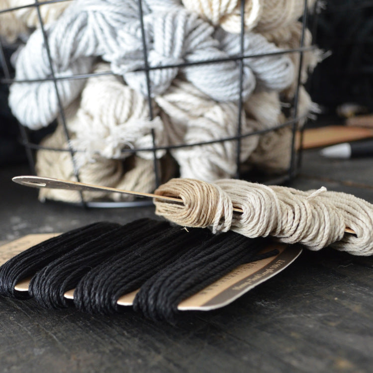 Multiweight hemp cord set: black