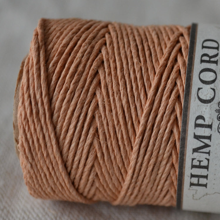 Hemptique hemp cord 1mm 50g Cappucino Candy