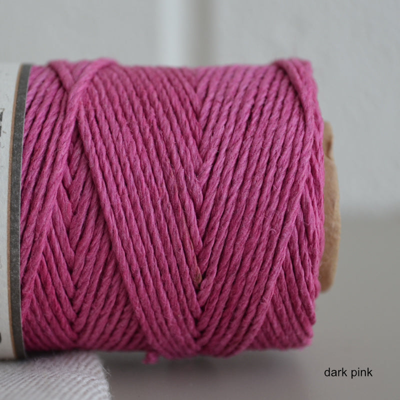 Hemptique hemp cord 1mm 50g Dark Pink