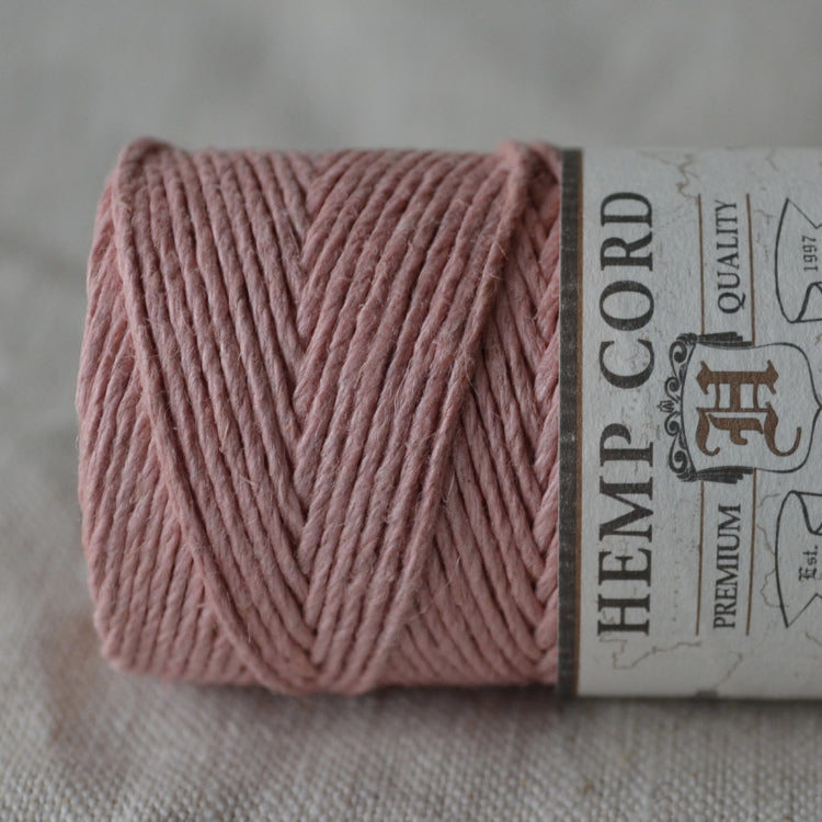 Hemptique hemp cord 1mm 50g Dusty Pink