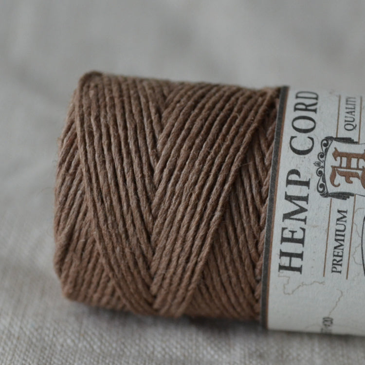 Hemptique hemp cord 1mm 50g Light Brown