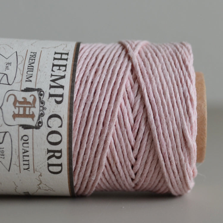 Hemptique hemp cord 1mm 50g Powder Pink