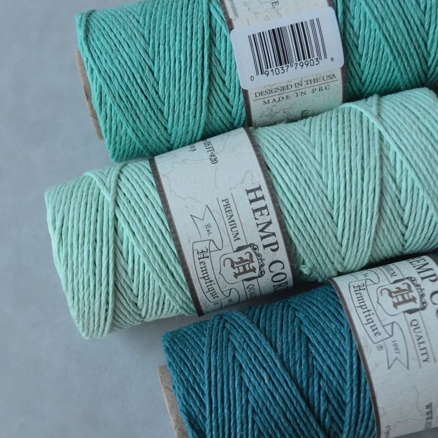 Hemptique hemp cord 1mm 50g Teal