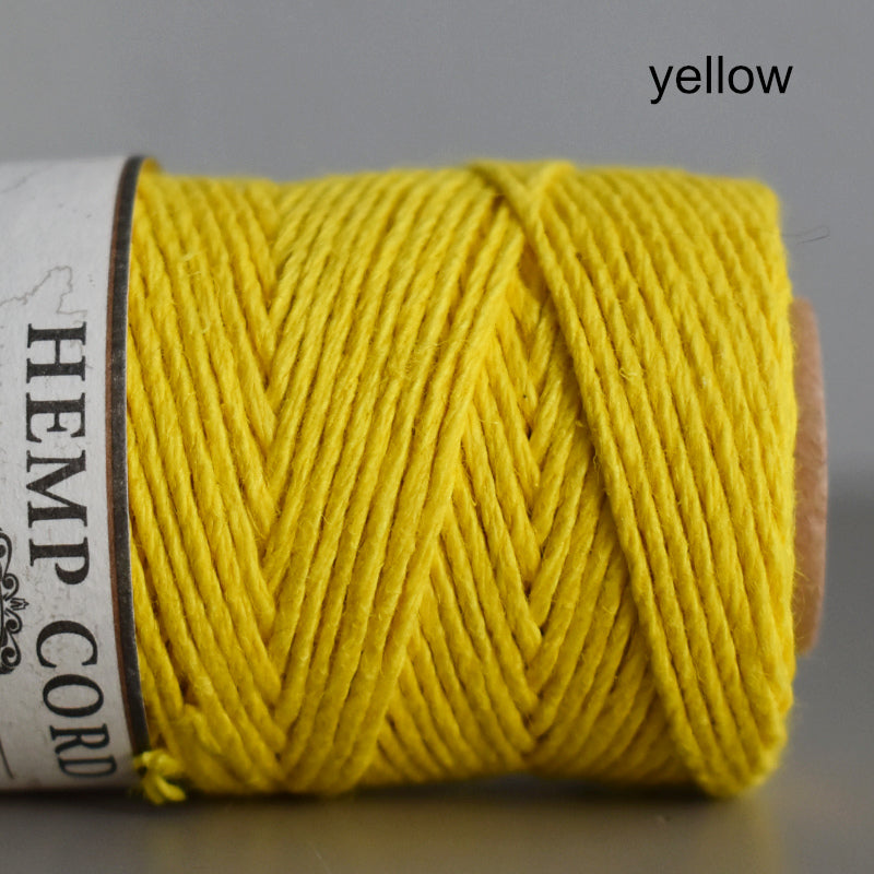 Hemptique hemp cord 1mm 50g Yellow