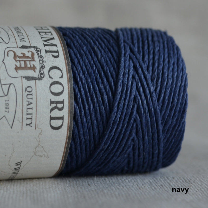 Hemptique hemp cord 1mm 50g Navy