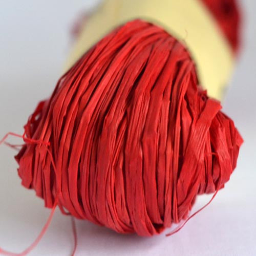 Nutscene Raffia: 50g Red - string-harvest
